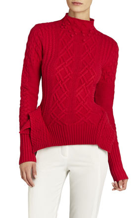 Maylin Cable Turtleneck Sweater | BCBG