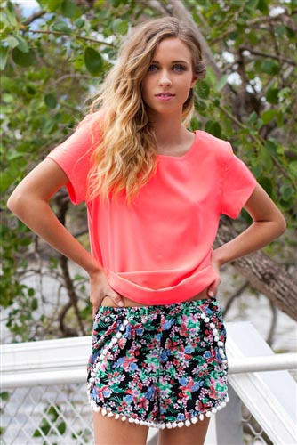 Shop Fashion Avenue - Pompom Shorts