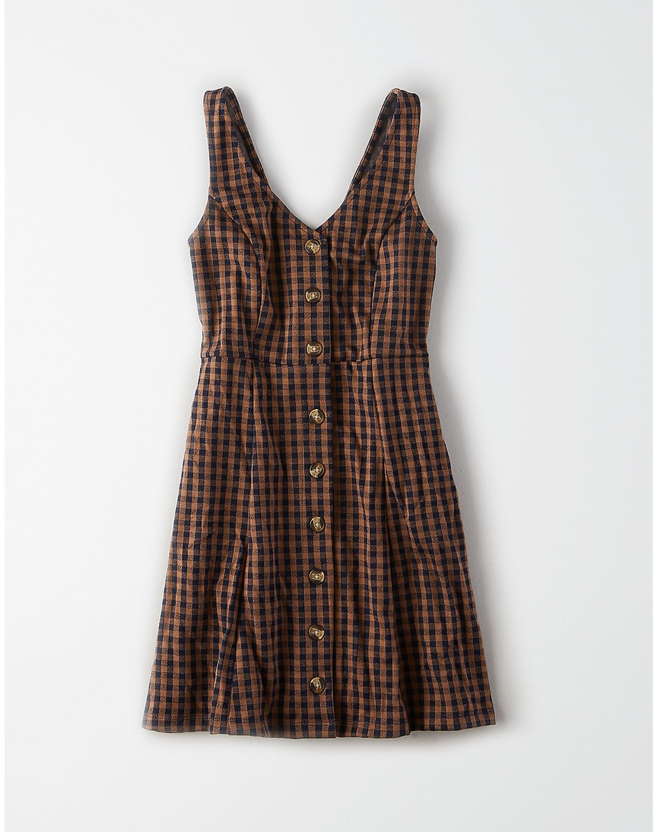 AEO Plaid Pocket Dress