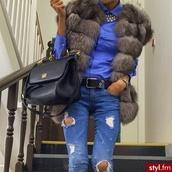 coat,jacket,grey faux fur jacket
