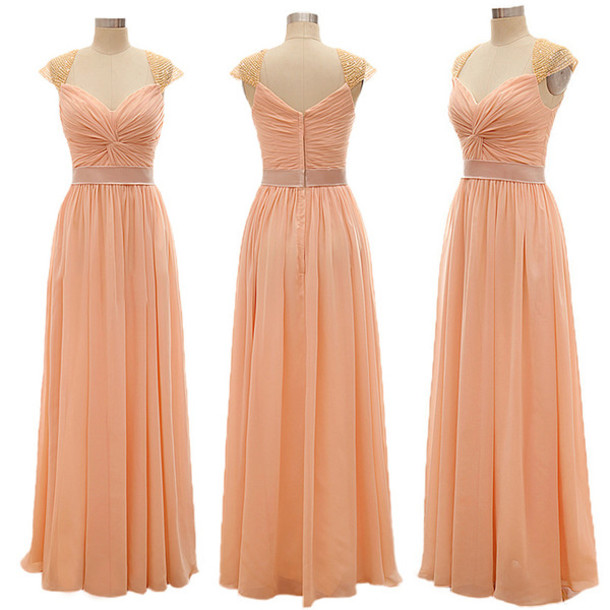 dress prom prom dress special occasion dress evening outfits evening dress event long evening dress long long dress long prom dress peach peach dress maxi maxi dress sweetheart dress sweet trendy fashion style stylish girl girly floor length dress love lovely pretty fabulous chic vogue gorgeous gorgeous dress chiffon chiffon dress bridesmaid fashion vibe