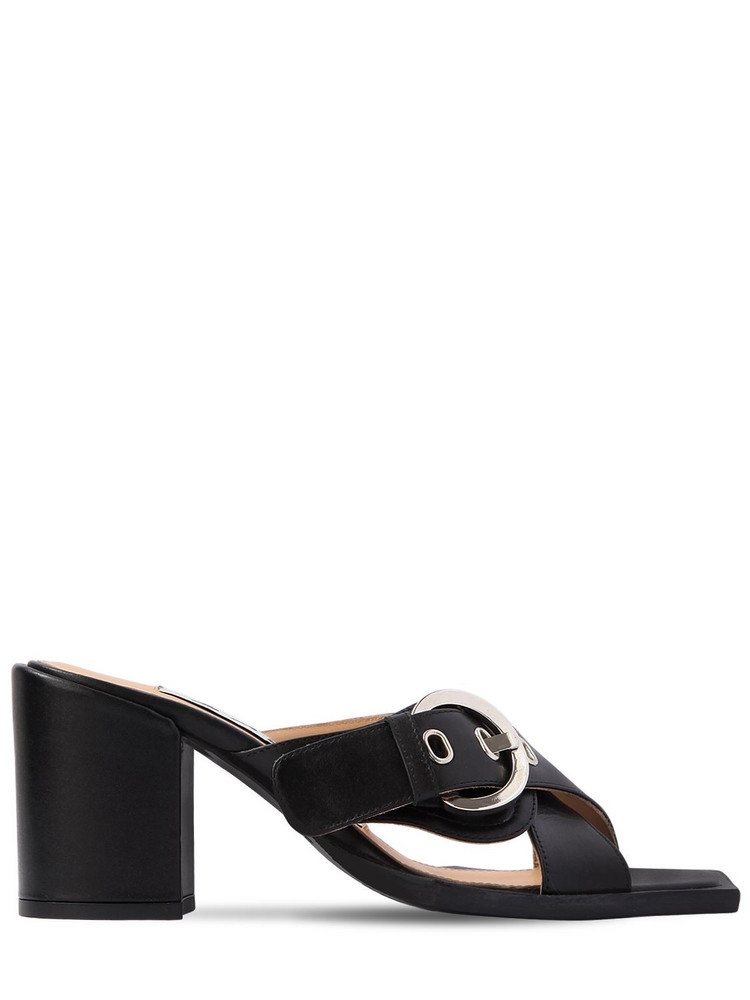 AALTO 80mm Chunky Leather Sandals in black
