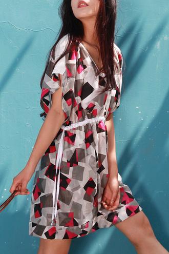 dress pattern summer fashion style grey trendy spring dezzal