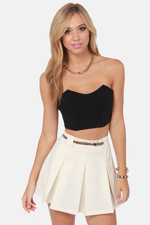 Sexy Black Bustier - Structured Top - Crop Top - Tube Top - $28.00