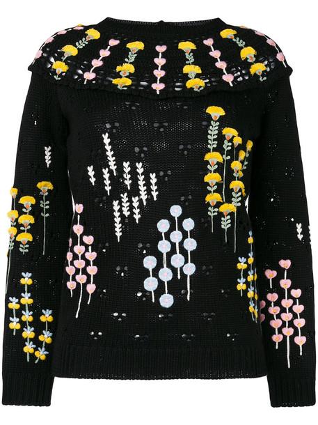 Valentino sweater embroidered women black wool