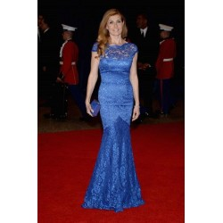 Connie britton blue lace formal prom dress 2013 white house correspondents' association dinner