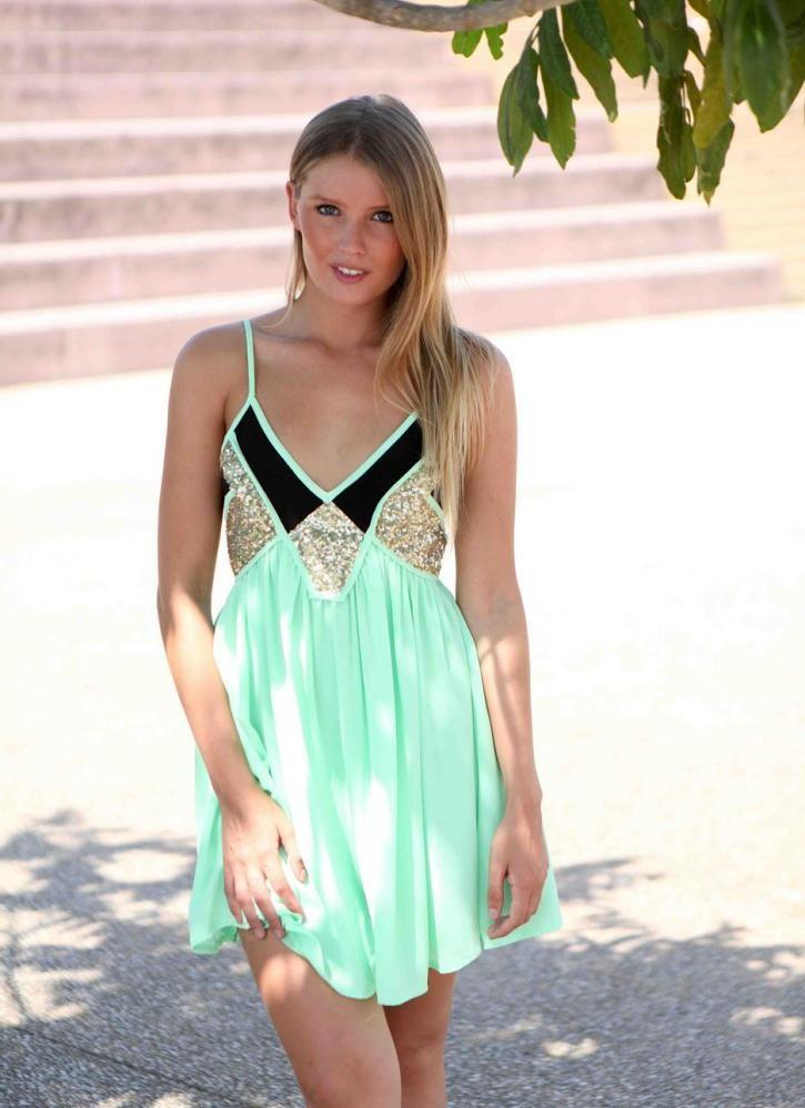 & Black Sequin Embellished Sleeveless Dress