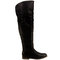 Womens black thigh high boots