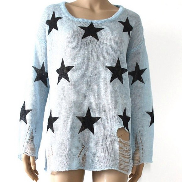 ripped sweater oversized sweater cute cross awesome beautiful clothing