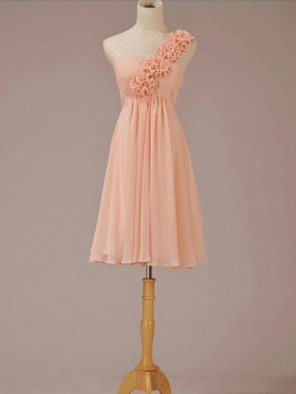 bridesmaid short bridesmaid dress short dress pink dress one shoulder dress