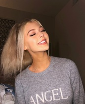 sweater,lorengray,grey,gray hoodie
