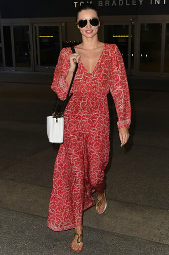 dress red maxi dress miranda kerr sandals shoes