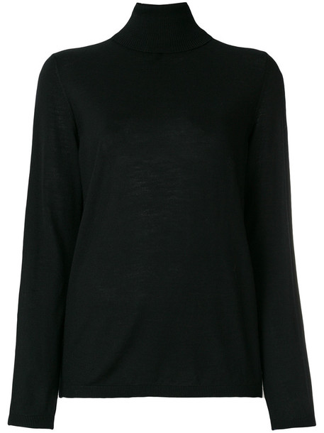 Luisa Cerano sweater turtleneck turtleneck sweater women black wool