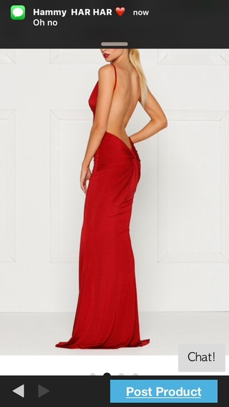 dress red prom homecoming mermaid tight sexy backless party