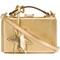 Mark cross 'grace' box shoulder bag, women's, grey