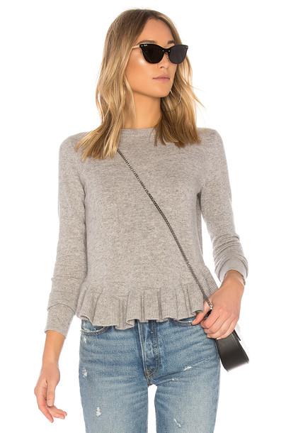 Autumn Cashmere sweater ruffle sweater ruffle