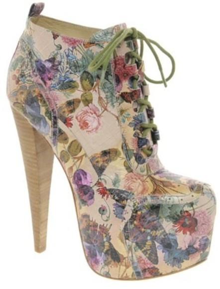 shoes floral platform shoes lita platform spring