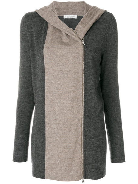 LE TRICOT PERUGIA cardigan cardigan women spandex wool grey sweater