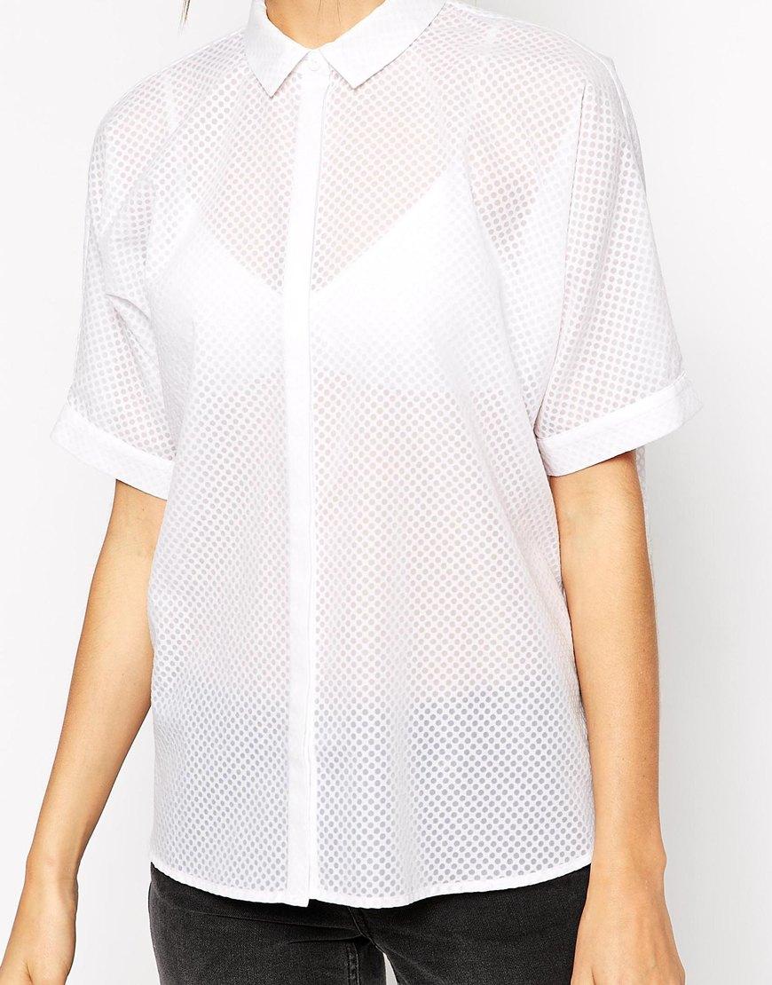 Warehouse Oversize White Shirt at asos.com