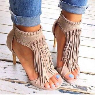 shoes fringe