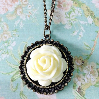 rose necklace jewels victorian jewelry vintage pendant freeforme