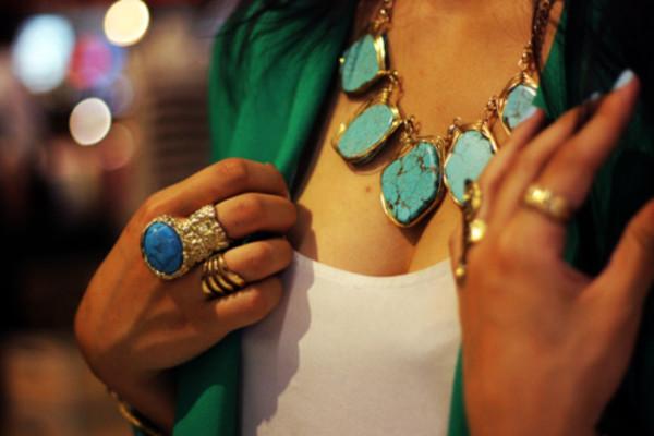 Bague turquoise yves saint laurent