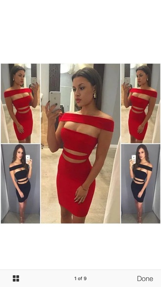 dress red bodycon dress red red dress party dress bodycon bodycon dress off the shoulder off the shoulder dress summer dress summer outfits sexy party dresses sexy dress party outfits cute dress cute girly girly dress date outfit classy dress cocktail dress birthday dress clubwear club dress