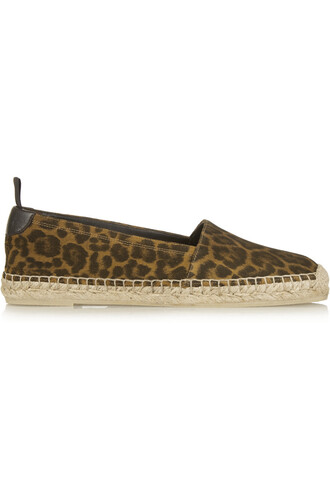 espadrilles print suede brown leopard print shoes
