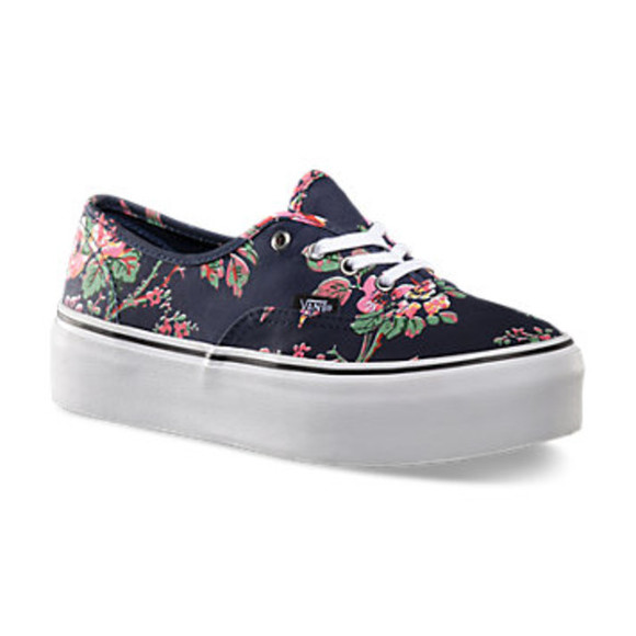 shoes black shoes vans of the wall flower print shoes cool girl style