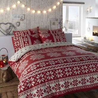 home accessory christmas red bedding