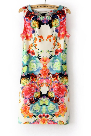 Folky Print Sleeveless Dress [FXBI00303]- US$ 16.19 - PersunMall.com
