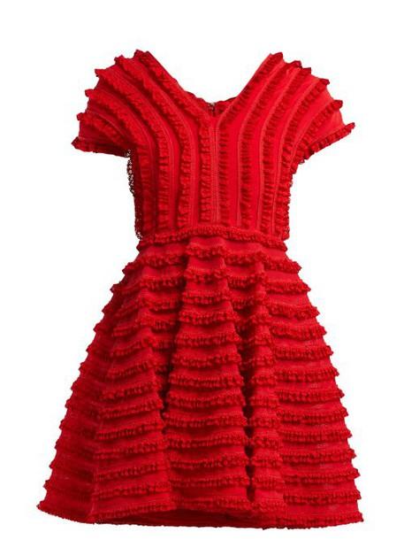 Emilio De La Morena - Zelda Ruffled Cocktail Dress - Womens - Red