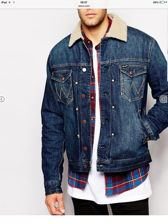 jacket denim jacket menswear wool holiday gift mens jacket mens denim jacket