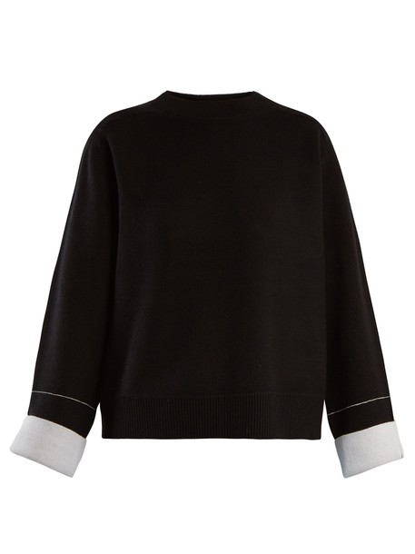 Proenza Schouler sweater cropped sweater cropped cotton black