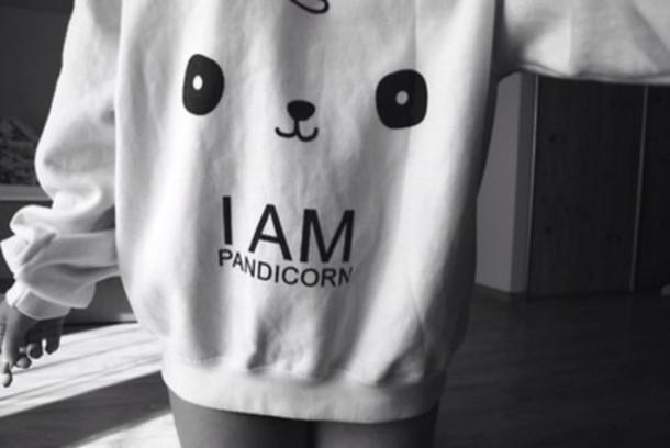 Target Office Chairs Sweater: panda, unicorn, pandicorn, cute - Wheretoget