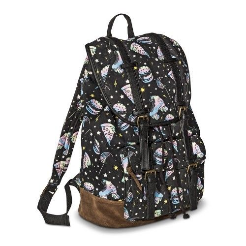 Mossimo Supply Co. Pizza/Hamburger Backpack Handbag - Black