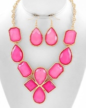 jewels,pink,gold,necklace