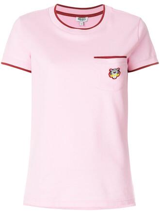 t-shirt shirt pocket t-shirt women cotton purple pink top