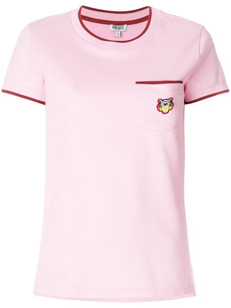 Kenzo t-shirt shirt pocket t-shirt t-shirt women cotton purple pink top