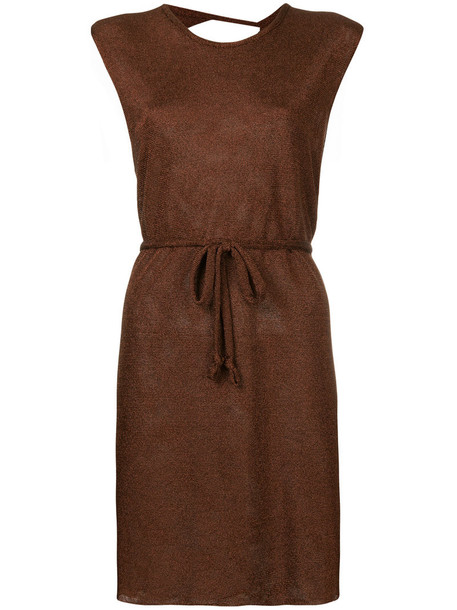 dress mini dress mini back women brown
