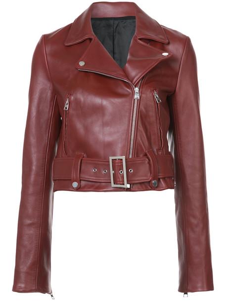 Dvf Diane Von Furstenberg jacket biker jacket women leather red