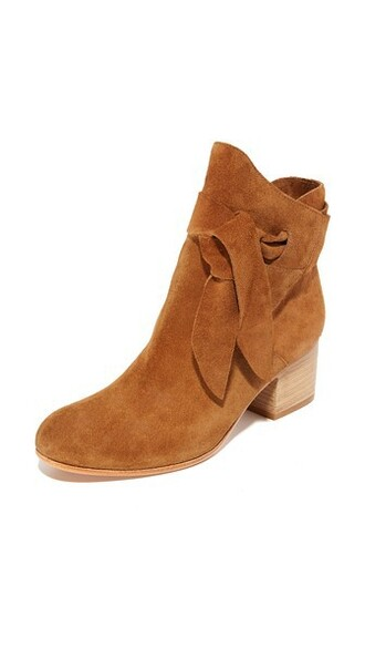 tan booties shoes