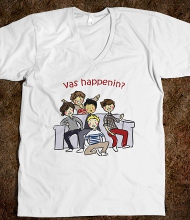 Vas Happenin? - ONE DIRECTION - Skreened T-shirts, Organic Shirts, Hoodies, Kids Tees, Baby One-Pieces and Tote Bags Custom T-Shirts, Organic Shirts, Hoodies, Novelty Gifts, Kids Apparel, Baby One-Pieces | Skreened - Ethical Custom Apparel