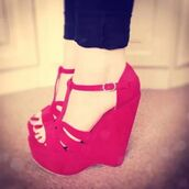 shoes,wedges,platform shoes,red,sexy