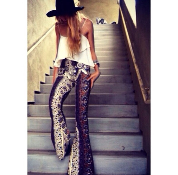 pants boho pants hippie gypsy long pants