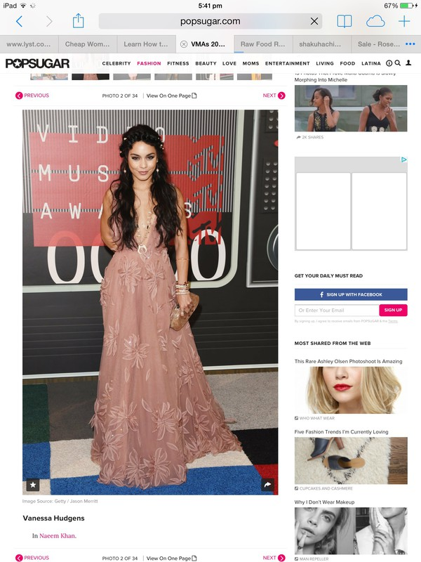 Dress: vanessa hudgens, bohemian, vma, mtv, red carpet, wedding ...