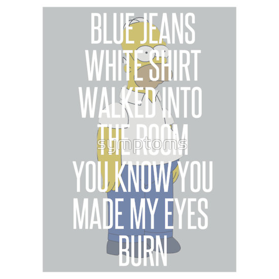 """blue jeans lana del rey/homer simpson tee "" t"