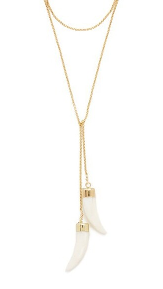 necklace gold white jewels