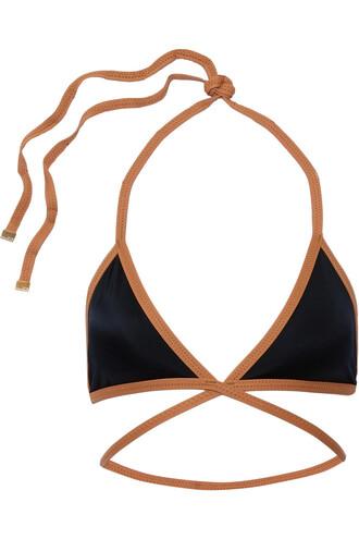 bikini bikini top triangle bikini triangle black swimwear