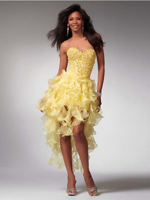 Nice A-Line Sleeveless Sweetheart Organza Prom Dresses With Beading